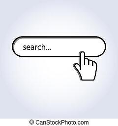 curseur, recherche, souris, main