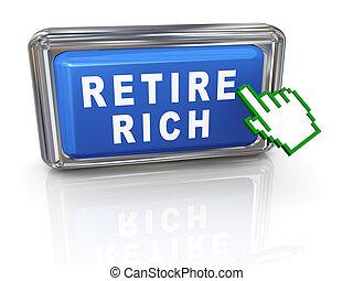 curseur, retirer, 3d, riche, main