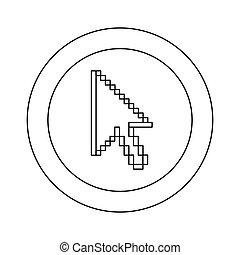 curseur, symbole, pixel, figure, icône