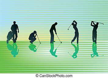 curso, césped del golf