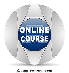 curso, en línea, icono