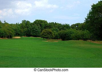 curso, golf, calle