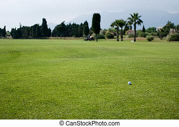 curso, golf, hermoso