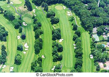 curso, golf, sobre