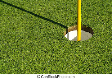 curso, golfe, manicured