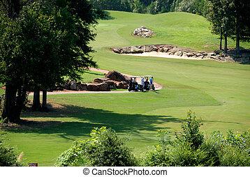 curso, golfistas, georgia