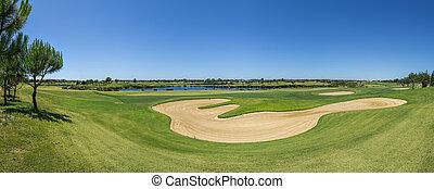 curso, summer., golf, vista