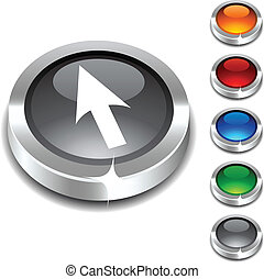 Cursor 3d button. - Cursor 3d button set. Vector...