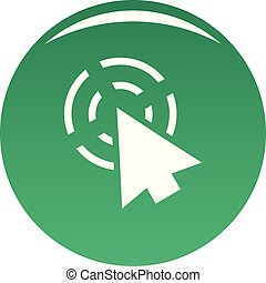 Cursor app icon vector green