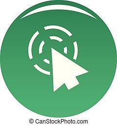 Cursor app icon vector green
