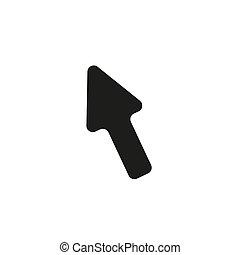 Cursor Arrow Flat Icon On White Background