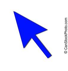 Cursor Arrow Mouse Blue