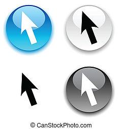 Cursor button.