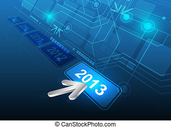 cursor click 2013 button