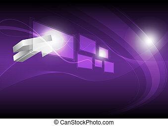 cursor click hi-tech button