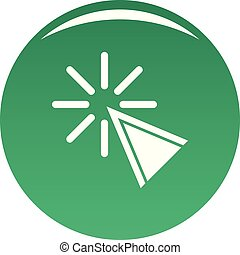Cursor click icon vector green