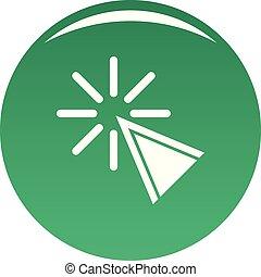 Cursor click icon vector green