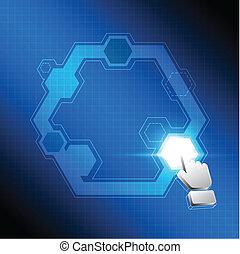 cursor click polygon button