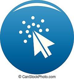 Cursor digital icon blue vector