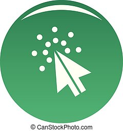 Cursor digital icon vector green