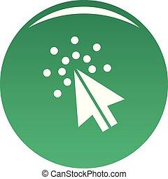 Cursor digital icon vector green