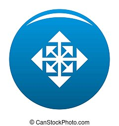 Cursor displacement arrow icon blue