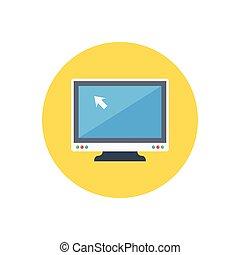 cursor flat color icon