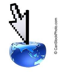 cursor globe