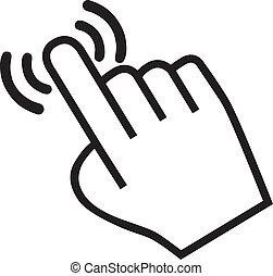 cursor hand icon