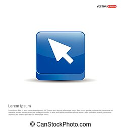 cursor icon - 3d Blue Button
