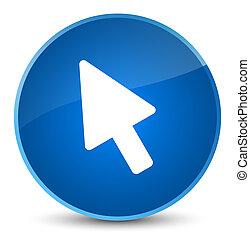 Cursor icon elegant blue round button