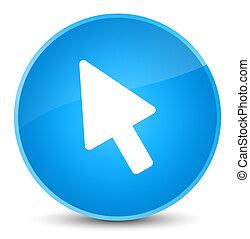 Cursor icon elegant cyan blue round button