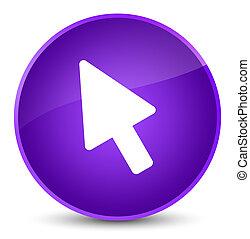 Cursor icon elegant purple round button