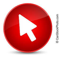 Cursor icon elegant red round button