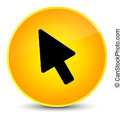 Cursor icon elegant yellow round button