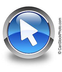 Cursor icon glossy blue round button