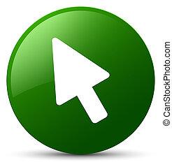 Cursor icon green round button