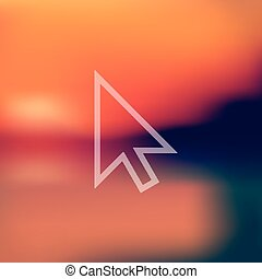 cursor icon on blurred background