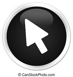 Cursor icon premium black round button