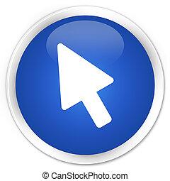 Cursor icon premium blue round button