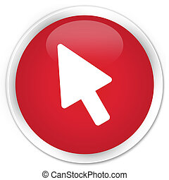 Cursor icon premium red round button