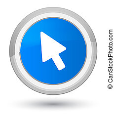 Cursor icon prime cyan blue round button