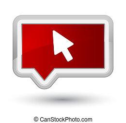 Cursor icon prime red banner button