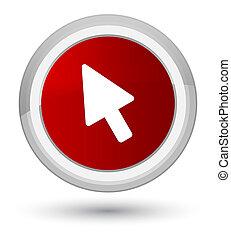 Cursor icon prime red round button