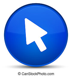 Cursor icon special blue round button