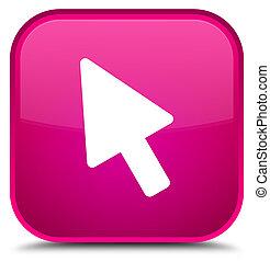 Cursor icon special pink square button