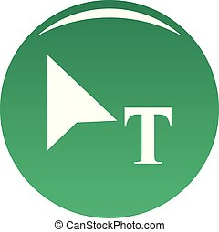 Cursor icon vector green