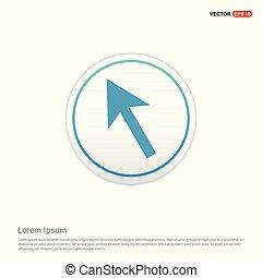 Cursor Icon - white circle button