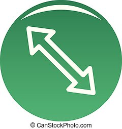 Cursor increase element icon vector green
