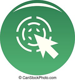 Cursor interactive icon vector green
